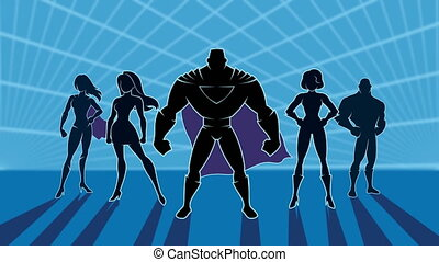 Superhero Team 2 Animation - Conceptual animation depicting...