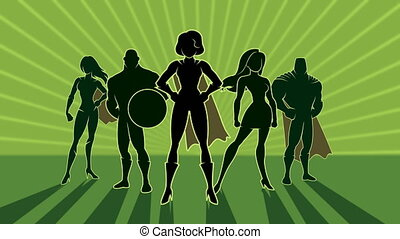 Superhero Team 3 Animation - Conceptual animation depicting...