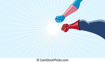 Superhero Team Assemble Animation - Conceptual animation...