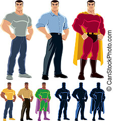 Superhero Transformation - Ordinary man transforms into...
