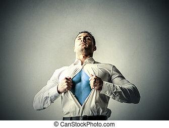 superhero, uomo affari