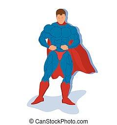 superhero, vettore, illustrazione