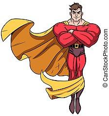 superhero, volare, 3