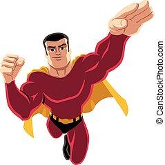 superhero, volare, 4