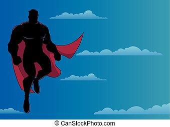 superhero, volare, cielo