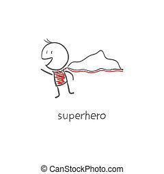 superhero, volare
