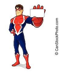 superhero, vriendelijk, identiteit