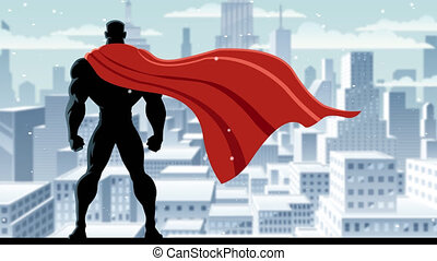 Superhero Watch - Looping animation of superhero watching...