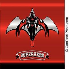 Superhero. winged superhero.