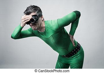 Superhero with back pain