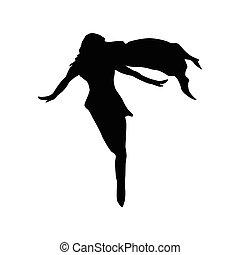 Superhero woman silhouette
