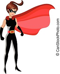 Superhero woman standing