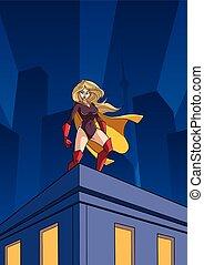 Superheroine Roof Watch