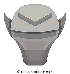 Superhero's helmet icon in monochrome style isolated on white background.