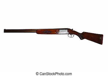 A superimposed double barrel shotgun.