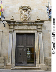Superior Court of Justice of Extremadura, facade, Caceres, Spain