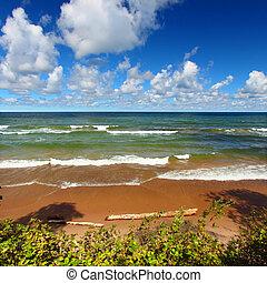 superior de lago, playa