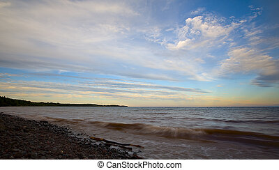 Superior Evening Sky and Surf