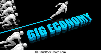 Superior Gig economy Concept with Competitive Advantage