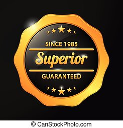 Superior Guaranteed golden badge
