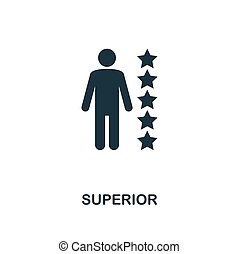 Superior icon. Monochrome style design from business ethics icon collection. UI and UX. Pixel perfect superior icon. For web design, apps, software, print usage.