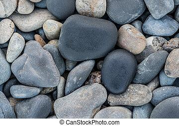 superior, liso, pedras, maré, borda, praia