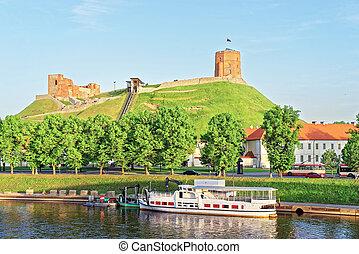 superior, neris, lituania, castillo, río, vilnius