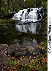 superior, otoño, cascada, michigan, península