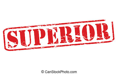 Superior - Rubber stamp with word superior inside, vector ...