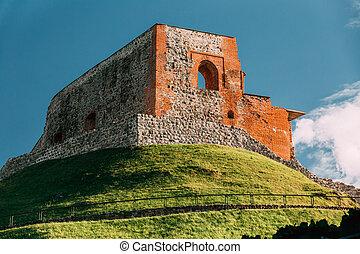 superior, sitio, retener, lithuania., castillo, mundo, ...