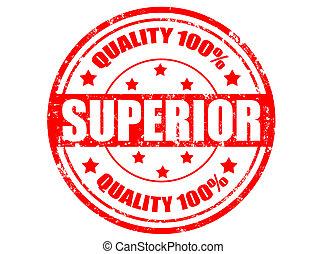 Superior-stamp - Grunge rubber stamp with word superior...