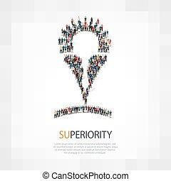 superiorità, folla, persone
