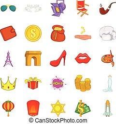 Superiority icons set, cartoon style - Superiority icons...