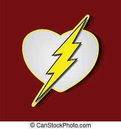 Superlove heroes flash - Superhero shields shaped like a...