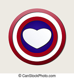 Superlove heroes shield - Superhero shields shaped like...