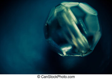 Supermacro of Glass Bead - Extremely close up image of glass...