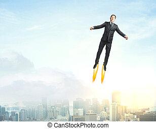 Superman in sky
