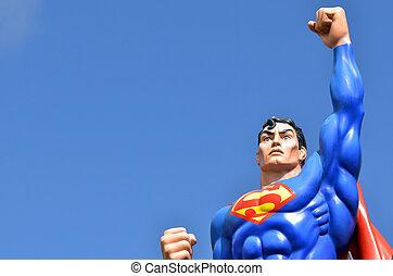 Superman - GOLD COAST, AUS - NOV 20 2014:Superman.He's a...