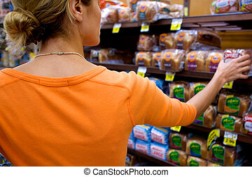 supermarché, acheteur
