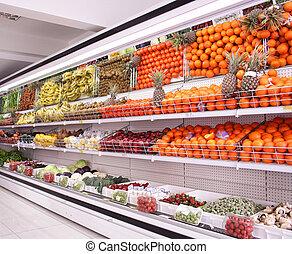 supermarché, fond