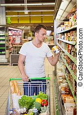 supermarché, homme
