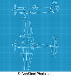 Supermarine Spiteful - high detailed vector illustration of...