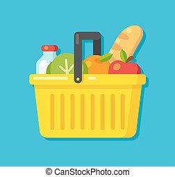 Supermarket basket illustration