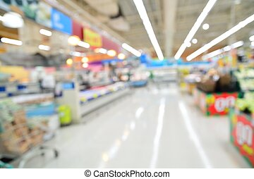 Supermarket blur background with bokeh, Miscellaneous...