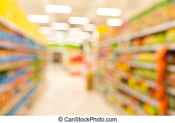 Supermarket blur background with bokeh