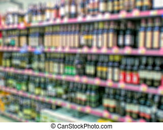 Supermarket blur background