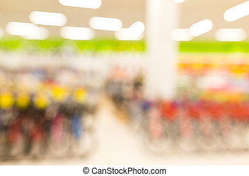 Supermarket blurred background with bokeh