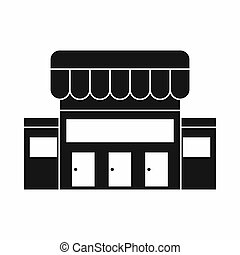 Supermarket building icon, simple style