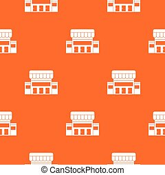 Supermarket building pattern seamless