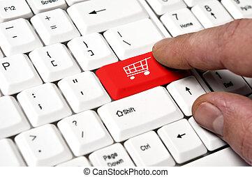 Supermarket cart key